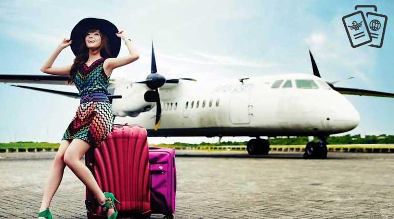 uçak yolcusu kadın