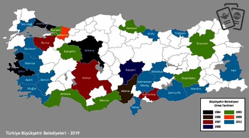 Türkiye büyükşehir belediyesi iller