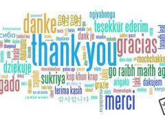Tüm dillerde teşekkür edin